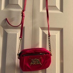Juicy Couture Mini nylon and chain crossbody purse